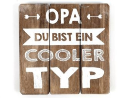 Texttafel  20cm Opa cooler Typ natural