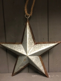 Kerst ster  zink roest  30 cm doorsnee