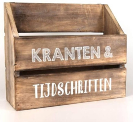 Houten Krantenbak Tijdschriftenbak - Lectuurbak 32x25X12 cm