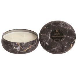 Black Pomegranate Woodbridge  Marble Effect Tinned Candle