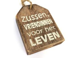 "Hanger label 9cm ""zussen"" naturel"