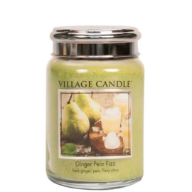 Ginger Pear Fizz   Village Candle  Large Jar 170 Branduren
