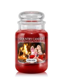 Fireside Country Candle Large Jar 150 Branduren