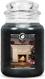 Holiday Embers Goose Creek Candle®Large 150 Branduren