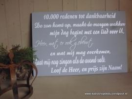 10.000 redenen tekstbord