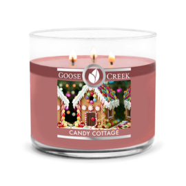 Candy Cottage Goose Creek Candle  Soy Blend  3 Wick Tumbler