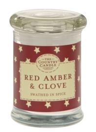 Red Amber & Clove  mini geurkaars The Country Candle 20 geururen