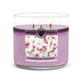 Flowering Quince Goose Creek Candle   Soy Blend   3 Wick Tumbler