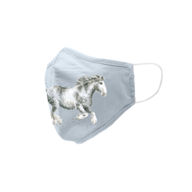 Wrendale Designs Mondkapje Paard Dapple Grey