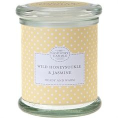 The Country Candle Company  Wild Honeysuckle & Jasmine Medium Jar