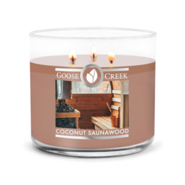 Coconut Saunawood Goose Creek Candle Soy Blend 3 Wick Geurkaars