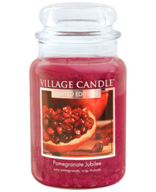 Pomegranate Jubilee Village Candle Large Jar 170 Branduren