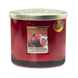 Ruby Pommegranate Heart & Home Ellips 2 wick Candle 230 gram
