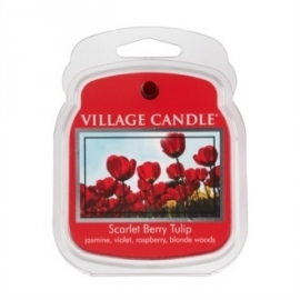 Scarlet Berry Tulip Village Candle  1Wax Meltblokje