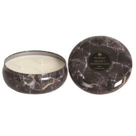 Secret Rendezvous Woodbridge  Marble Effect Tinned Candle