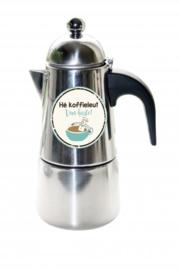 Koffie Percolator  He koffieleut van harte!