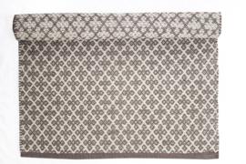 Vloerkleed Taupe - Wit   60x90cm