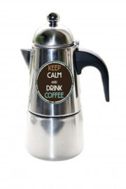 Koffie Percolator  Keep calm and drink coffee