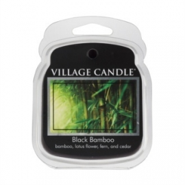 Black Bamboo Village Candle  1Wax Meltblokje