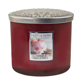 Frosted Apple Heart & Home  2 Wick Ellipse Candle