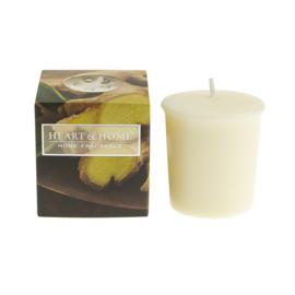 Ginger & Lemongrass votive geurkaars Heart & Home 52 gram