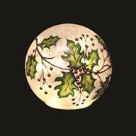 Kerst Crackle Led bal 15 cm
