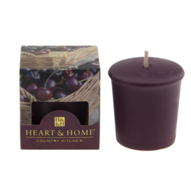 Zoete zwarte kersen Heart & Home Votive Geurkaars 52 gram