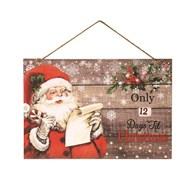 Wandbord Countdown To Christmas 40x27cm