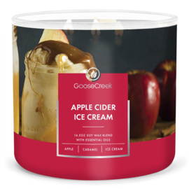 Apple Cider Ice Cream  Goose Creek Candle  Soy Blend   3 Wick Tumbler