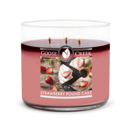 Strawberry Pound Cake Goose Creek Candle Soy Blend 3 Wick Tumbler