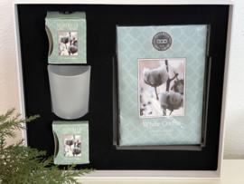 Luxe Kado Box  White Cotton Bridgewater Candle Company