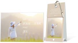 Een zonnestraal voor jou Geurtasje - Wenskaart Incl envelop  12,5 x 8 cm