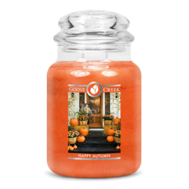 Happy Autumn  Goose Creek Candle  Large Jar  150 Geururen