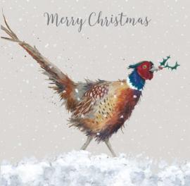 Wrendale Designs Kerstkaart Box Set van 8 Kaarten Christmas Colours Fazant