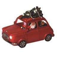 Kerst Led  Car Mini Cooper Red 23 cm