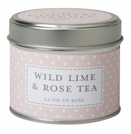 Wild Lime & Rose Tea  The Country Candle Sojawax Geurkaars