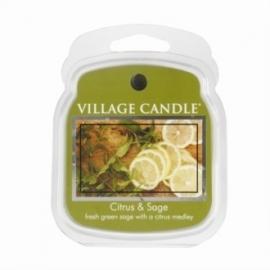 Citrus & Sage  Village Candle 1 Wax Meltblokje