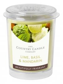 Lime, Basil & Mandarin Country Candle votive geurkaars 20 branduren