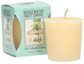 On Island Time Bridgewater  Votive Geurkaars 15 Branduren