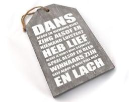 """dienblad/label  """"dans alsof"""" taupe"""