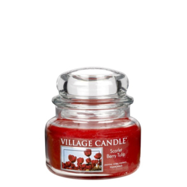Scarlet Berry Tulip  Village Candle  Jar Small  55 Branduren