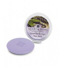 Lavendel Salie Heart & Home Waxmelt