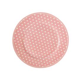 Isabelle Rose Dessertbord 20 cm roze Polka Dots