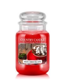 Hot Chocolade  Country Candle Large Jar 150 Branduren