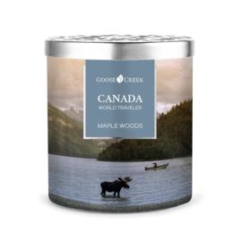 Maple Woods Goose Creek Candle Canada World Traveler  453 gram