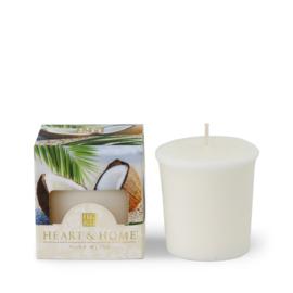 Kokosnoot Avontuur Heart & Home Votive Geurkaars 52 gram