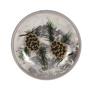 Pinecone Candleplate 16cm