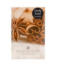 Kruidig Kaneel Heart & Home Geurzakje