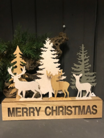 Merry Christmas decor met LED 27x22.5cm