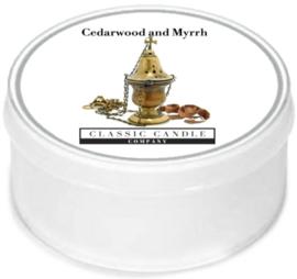 Cedarwood and Myrrh  Classic Candle  MiniLight
